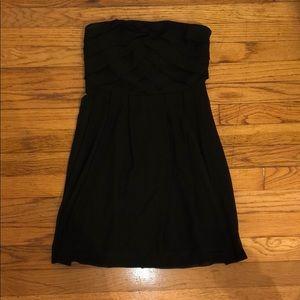 Chiffon Black Mini Dress